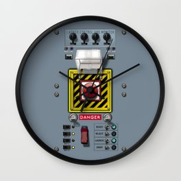 Launch console for nuclear missile Wall Clock