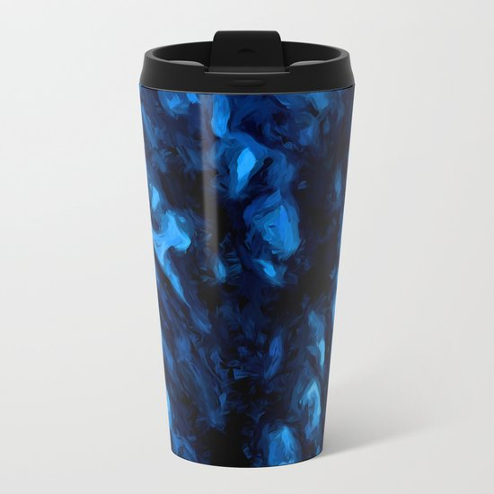 Black Branches in the Blue Wind Metal Travel Mug