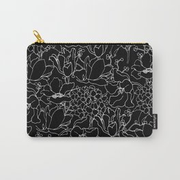 chalkboard floral Carry-All Pouch