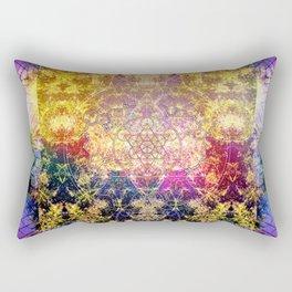 Fractalic Pineal Metatron | Foundant Dusa | Melting Soul Rectangular Pillow