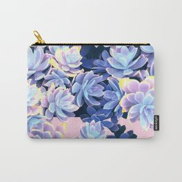 Cactus Fall - Blue and Pink Carry-All Pouch