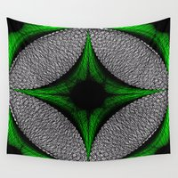 gem Wall Tapestries featuring Green Gem by Sartoris ART