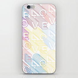 Love Lines 1 iPhone Skin