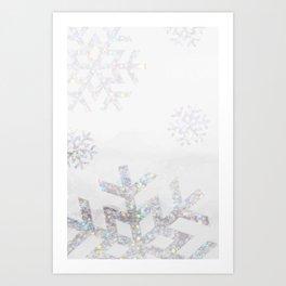 Snowflake Glitter Art Print