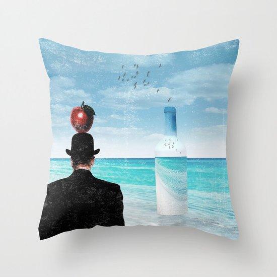 René at the beach Throw Pillow