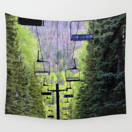 Ski Green Wall Tapestry