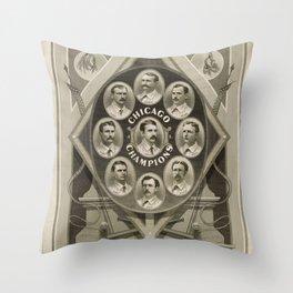 Chicago White Stockings Baseball Champions 1876-77 Throw Pillow