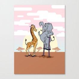 Elephant Stilts Canvas Print
