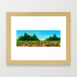 China Old Town - HuangYao Framed Art Print