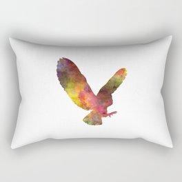 Barn Owl 02 in watercolor Rectangular Pillow
