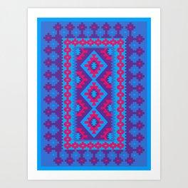 Blue Kilim Art Print