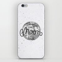 sayings iPhone & iPod Skins featuring I love you to the moon and back by Earthlightened
