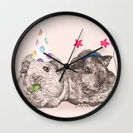 Guinea Pigs Just Want To Party Wall Clock