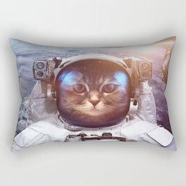 Cat in space Rectangular Pillow