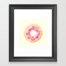 Pixel Donut Framed Art Print