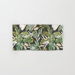Dark watercolor jungle 1 Hand & Bath Towel