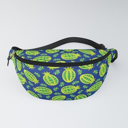 Tropical Seed Pods in Blue & Lime Fanny Pack
