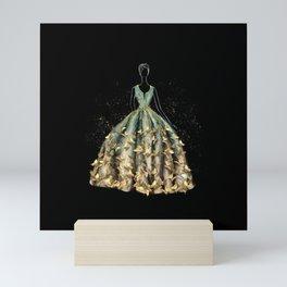 Evening Gown Fashion Illustration #3 Mini Art Print