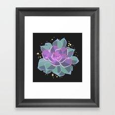 Space Succulent Framed Art Print