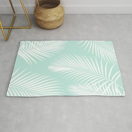 Mint Tropical Pattern Rug
