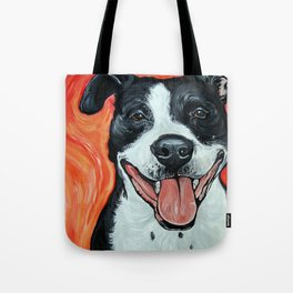 Black & White Adorable Pit Bull  Tote Bag