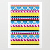 Aztec pattern Art Print