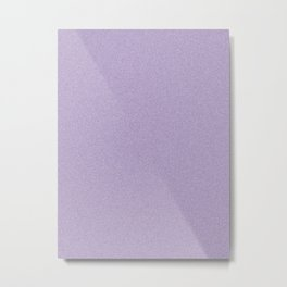 Dense Melange - White and Dark Lavender Violet Metal Print