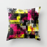 contemporary Throw Pillows featuring Contemporary Geometric by Idle Amusement