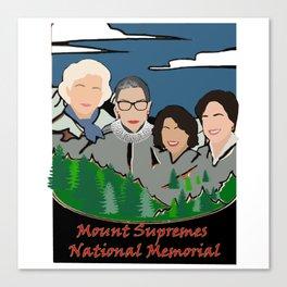 Mount Rushmore supremes Canvas Print
