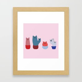 Catcus - Pink Theme Framed Art Print