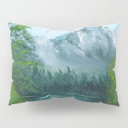 Lake by the mountain side Pillow Sham