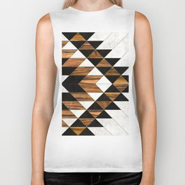 Urban Tribal Pattern No.9 - Aztec - Concrete and Wood Biker Tank