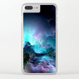 Unreal Stormy Ocean Clear iPhone Case