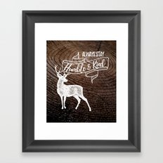 Always Stay Framed Art Print