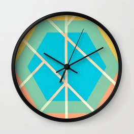 Leaf - color graphic Wall Clock