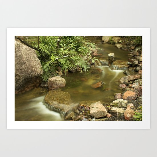Water Flow Art Print