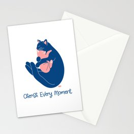 Cherish Every Moment | Cat Love (White) Stationery Cards