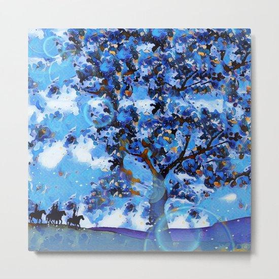 Plum Tree Hills Metal Print