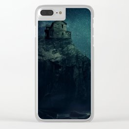 house on a hill Clear iPhone Case