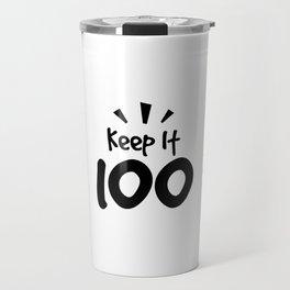 Keep It 100 Smol Bean Design Travel Mug