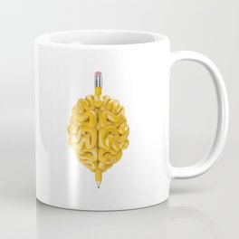 Pencil Brain Coffee Mug
