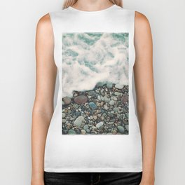 A Beautiful Spring Day at the Beach IV Biker Tank