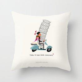 Italia, un lugar donde enamorarse Throw Pillow