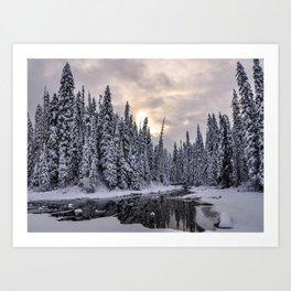 Emerald Lake in the Winter Art Print