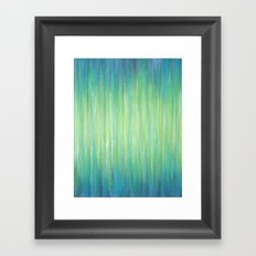 Ombre Aqua Bliss painting Framed Art Print