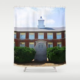 Gideon High School Building Shower Curtain