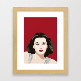 Hedy Lamarr portrait Framed Art Print