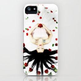 Red Rose SnoWhite iPhone Case
