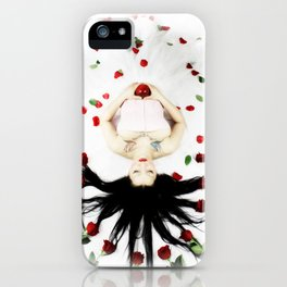 Red Rose SnoWhite iPhone Case