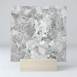 Dot Matrix BW | Abstract Geometric Mini Art Print